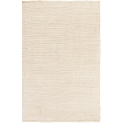 Yother Hand-Woven Ivory Area Rug Rug Size: Rectangle 5 x 76
