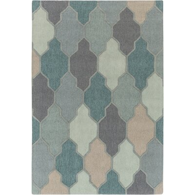 Galya Teal Area Rug Rug Size: Rectangle 3 x 5