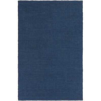 Yother Hand Woven Denim Blue Area Rug Rug Size: 4 x 6
