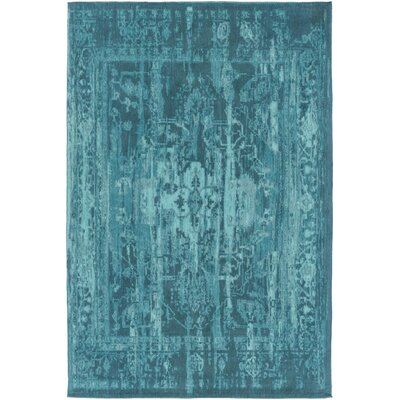Mcintosh Hand-Woven Teal Area Rug Rug Size: Rectangle 4 x 6