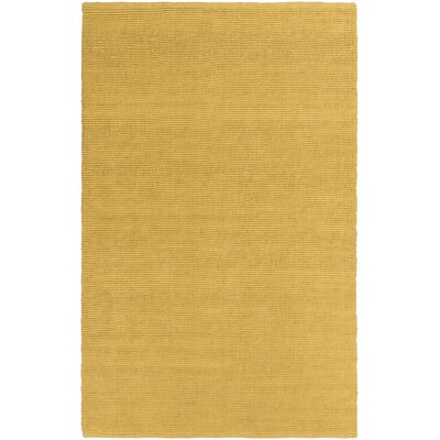 Yother Hand-Woven Gold Area Rug Rug Size: Rectangle 5 x 76
