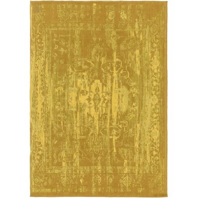 Mcintosh Hand Woven Gold Area Rug Rug Size: Runner 23 x 10