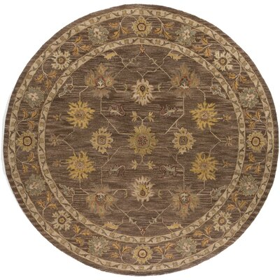 Middleton Brown Willow Area Rug Rug Size: Round 8
