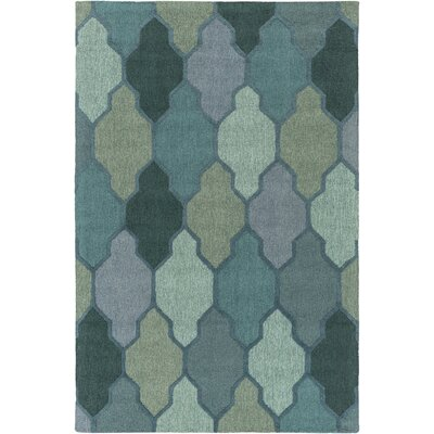 Pollack Morgan Green Area Rug Rug Size: 4 x 6