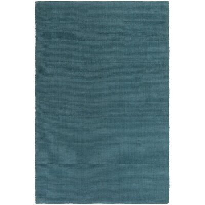 HawaII Jane Hand-Woven Teal Area Rug Rug Size: 2 x 3
