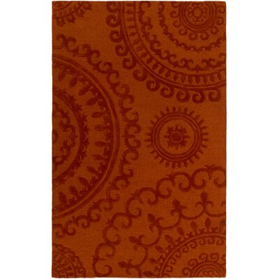 Allegan Handmade Orange Area Rug Rug Size: Rectangle 5 x 8