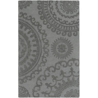 Allegan Handmade Slate Area Rug Rug Size: Rectangle 4 x 6
