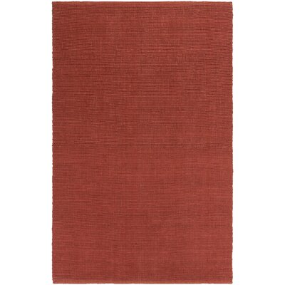 Yother Hand-Woven Red Area Rug Rug Size: Rectangle 4 x 6