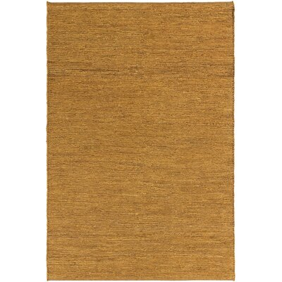 Zellers Hand-Woven Pumpkin Area Rug Rug Size: Rectangle 4 x 6
