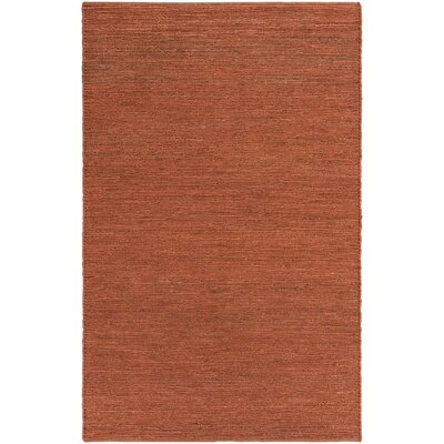 Zellers Hand-Woven Brick Red Area Rug Rug Size: Rectangle 3' x 5'
