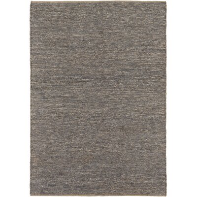 Zellers Hand-Woven Ash Gray Area Rug Rug Size: Rectangle 5 x 76