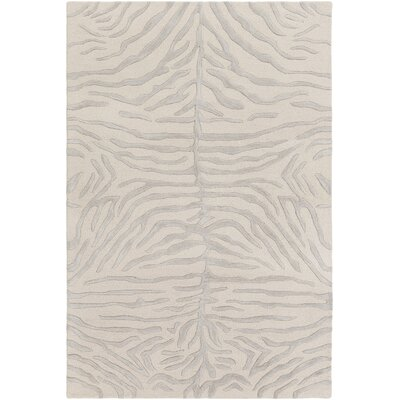 Langner Handmade Light Gray/Beige Area Rug Rug Size: Rectangle 4 x 6