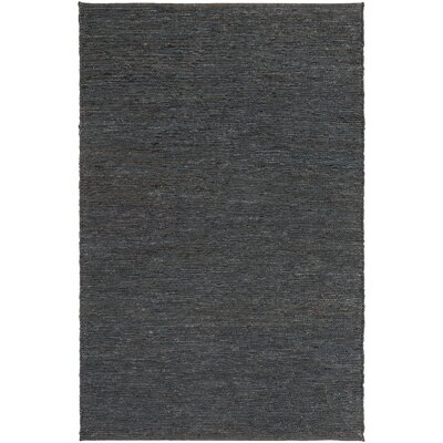 Zellers Hand-Woven Navy Area Rug Rug Size: Rectangle 2' x 3'