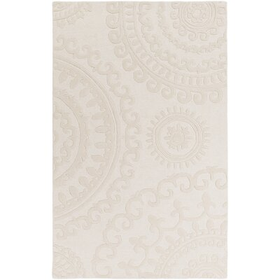 Allegan Handmade Ivory Area Rug Rug Size: Rectangle 4 x 6