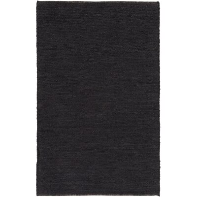 Zellers Hand-Woven Black Area Rug Rug Size: Rectangle 4 x 6