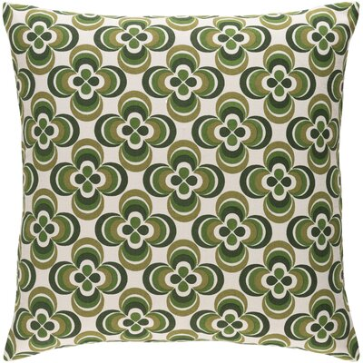 Trudy Rosa Cotton Throw Pillow Color: Olive Multi