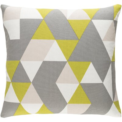 Arsdale Geometric Cotton Throw Pillow Color: Lime/ Gray/ Beige
