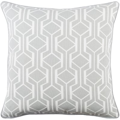Antonia Cotton Throw Pillow Cover Color: Gray/ White