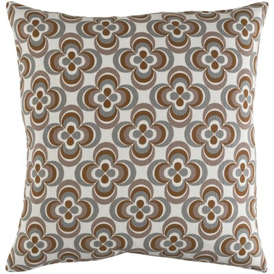 Trudy Rosa Cotton Throw Pillow Color: Gray Multi