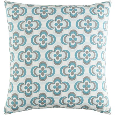 Trudy Rosa Cotton Throw Pillow Cover Color: Teal Multi