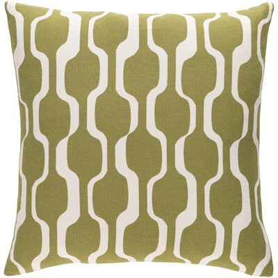 Arsdale Contemporary Cotton Throw Pillow Cover Color: Olive/ White