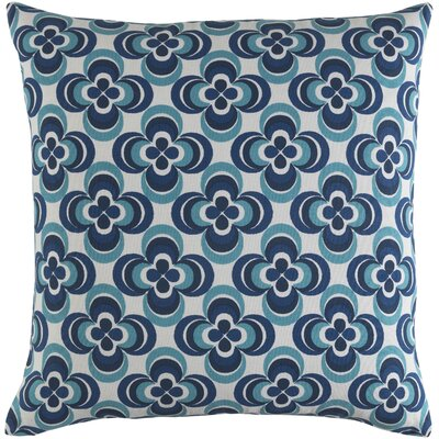 Trudy Cotton Throw Pillow Color: Blue Multi