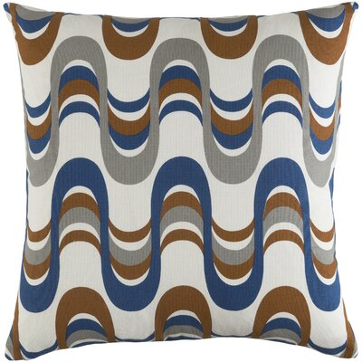 Arsdale Wave Cotton Throw Pillow Cover Color: Navy/ Gray Multi