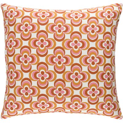 Trudy Cotton Throw Pillow Color: Orange Multi