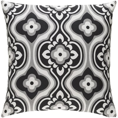 Murrin Blossom Cotton Throw Pillow Cover Color: Black/ White