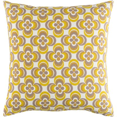 Murrin Cotton Throw Pillow Cover Color: Yellow Multi