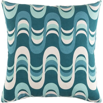 Arsdale Square Graphic Print Cotton Throw Pillow Color: Teal Multi