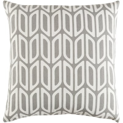 Arsdale Contemporary Square Cotton Throw Pillow Color: Gray/ White