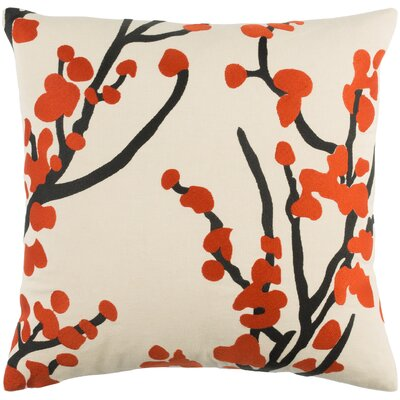 Kerwin Cotton Throw Pillow Color: Red/ Beige/ Black