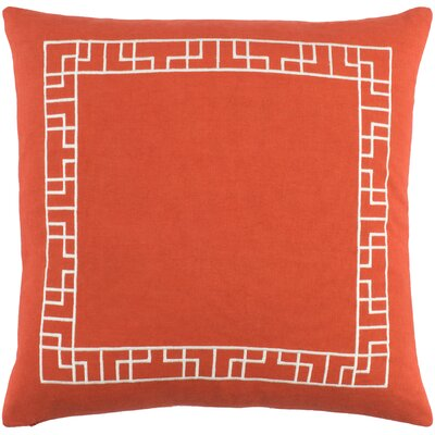 Southlake Cotton Throw Pillow Cover Color: Red/ White