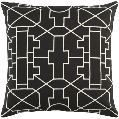Kingdom Lei Cotton Throw Pillow Color: Black/ White