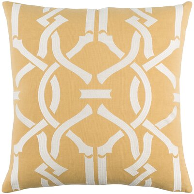 Kingdom Cotton Throw Pillow Color: Yellow/ White