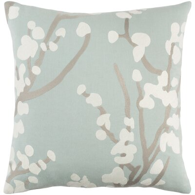 Kingdom Cotton Throw Pillow Color: Dusty Aqua/ Gray/ White