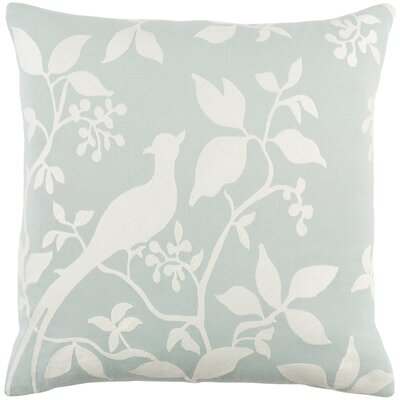 Kerwin Cotton Throw Pillow Color: Dusty Aqua/ White