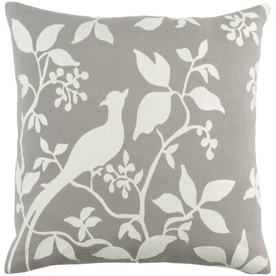 Kerwin Cotton Throw Pillow Color: Gray/ White