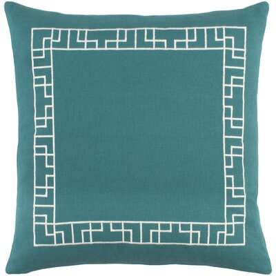 Kingdom Cotton Throw Pillow Color: Teal/ White