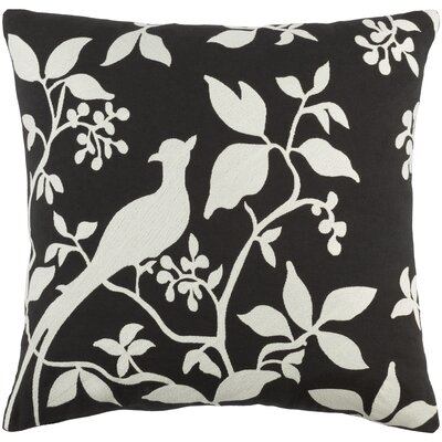 Kingdom Birch Cotton Throw Pillow Cover Color: Black/ White