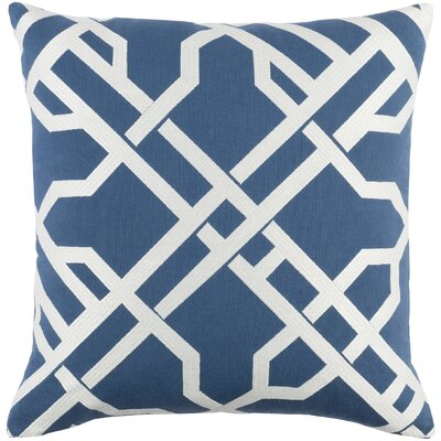 Kingdom Cotton Throw Pillow Color: Blue/ White