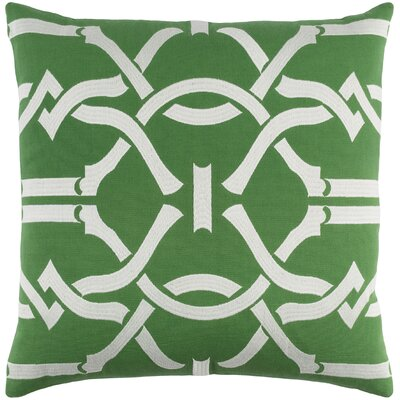 Kingdom Cotton Throw Pillow Color: Green/ White