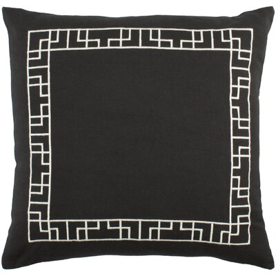 Kingdom Rachel Cotton Throw Pillow Cover Color: Black/ White