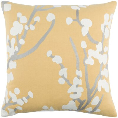 Kingdom Anna Cotton Throw Pillow Cover Color: Yellow/ Gray/ White