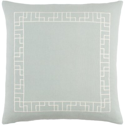 Kingdom Rachel Cotton Throw Pillow Cover Color: Dusty Aqua/ White