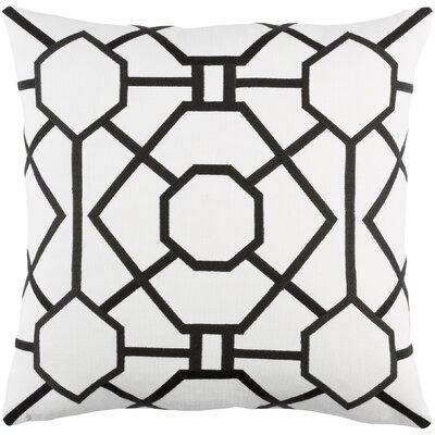 Kingdom Porcelain Cotton Throw Pillow Color: White/ Black