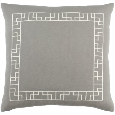 Kingdom Rachel Cotton Throw Pillow Cover Color: Gray/ White