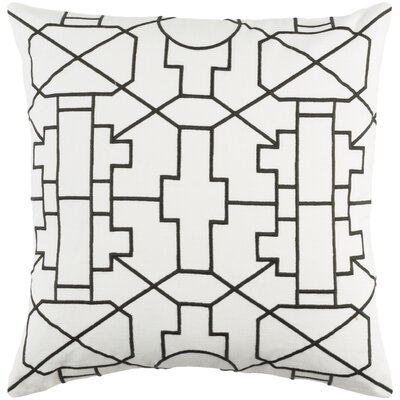 Kingdom Lei Cotton Throw Pillow Cover Color: White/ Black