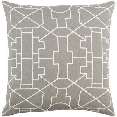 Kingdom Lei Cotton Throw Pillow Color: Gray/ White